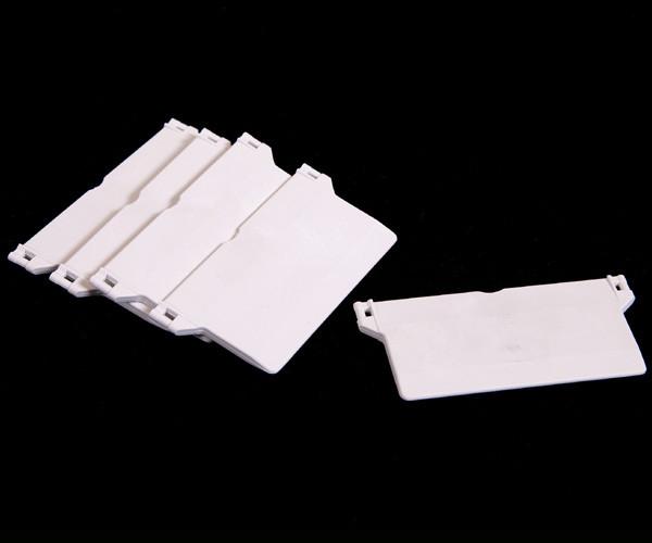 Beschwerungsplatte - weiß - für 127 mm Lamellenvorhang