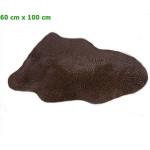 Echtes, australisches Lammfell (BxL) ca. 60 x 100 cm. - Braun