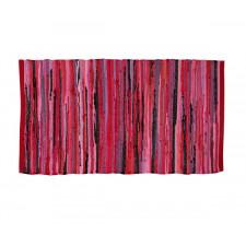 Flickenteppich - Gewebte - 100% Baumwolle - Pink/Rot