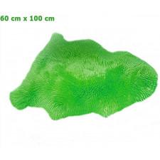Echtes, australisches Lammfell (BxL) ca. 60 x 100 cm. - Grün