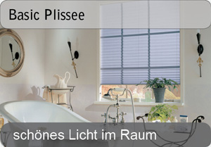 Basic Plissee - Uni Farben
