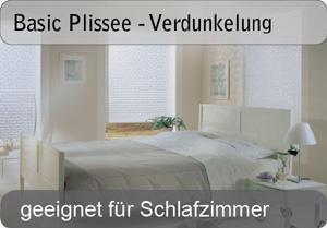 Basic Plissee - Verdunkelung - Uni Farben