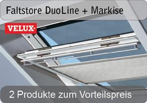 VELUX Faltstore DuoLine + Markise